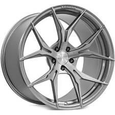 4 19 Rohana Wheels Rfx5 Brushed Titanium Rims B12 Fits Range Rover