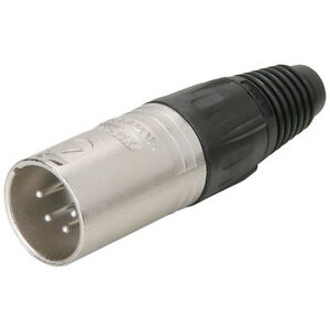 Details about Neutrik NC4MX XLR Male Nickel 4-Pin on