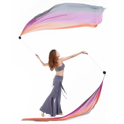 Belly Dance Silk Veil Poi Throw Balls Set Dancing Yoga Costumes Props