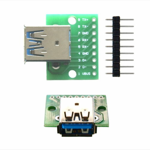 USB 3.0-a Jack On Adapter PCB IC 2,54mm with Pin Bar