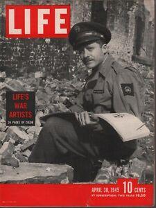 Life Magazine April 30 1945 Life's War Artists Vintage WWII Ads 082019AME