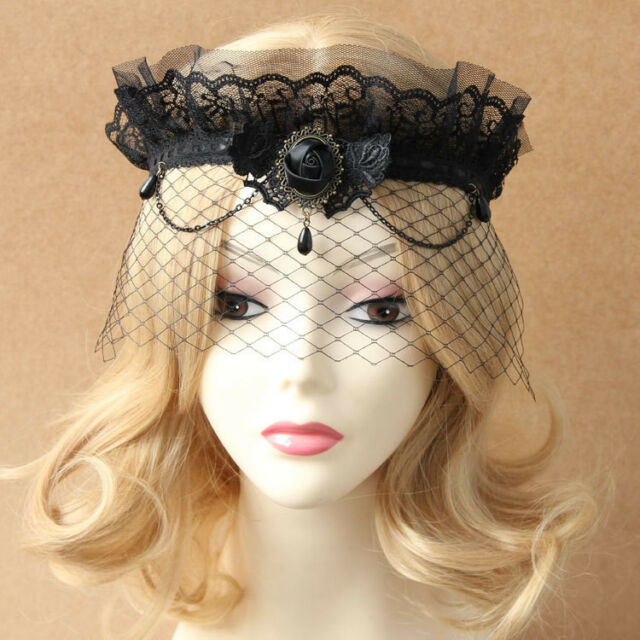 Sexy Elegant Flower Lace Masquerade Crown Face Eye Mask Mardi Gras Party Gothic