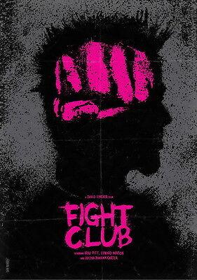 "42 Fight Club - 1999 American Film Brad Pitt Edward Norton 24""x34"" Poster"