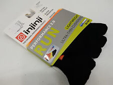 INJINJI TOE SOCKS RUN 2.0 LIGHTWEIGHT NO SHOW ORANGE FLASH SIZE M