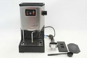 GAGGIA Classic Sin 035 Stainless Steel Espresso Coffee Machine 1200W Silver- D32