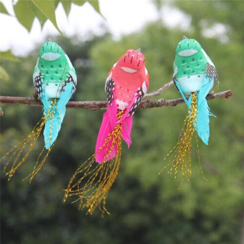 Cute`fake birds artificial feather foam doves wedding decoration venue ornamentR