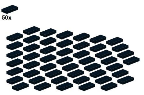 LEGO® Schwarz 3069b-04-1x2 50Stk - Fliese Smooth Parts Black
