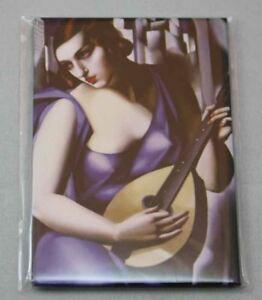 Magnet Pin Kuhlschrankmag<wbr/>net Lempicka Woman with Mandolin