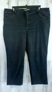 Chicos-Capri-Size-3-16-Cropped-Jeans-So-Slimming-Stretch-Black-Denim-Puckering