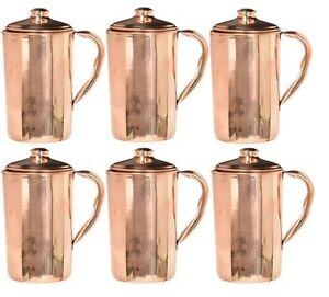 6 Pcs Indian Copper Jug