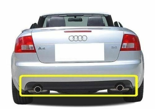 Oem Audi A4 Cabrio Rear Bumper Double Exhaust Difusser Spoiler