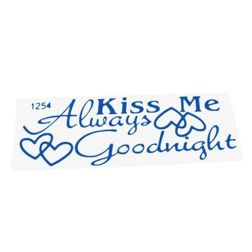 Removable Wall Stickers Quotes Always Kiss Me Goodnight Bedroom Home Decor CB