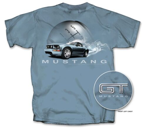 Closeout Sale! Smoking Burnout Mustang GT Blue T-Shirt Last Ones