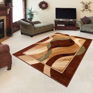 Tapis-classique-tres-colore-superbe-motif-parfait-au-salon-en-marron