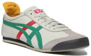 newest 2c72c 43c46 Details about Onitsuka Tiger Mexico 66 Men Soft Leather Trainers In Cream  Size UK 6 - 12