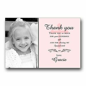 Image Is Loading 10 Personalised Thank You Cards 1st First Holy