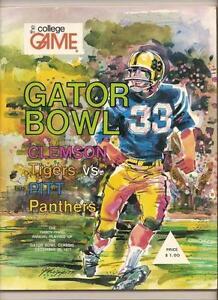 1977 Gator Bowl game Program Pittsburgh Panthers Clemson