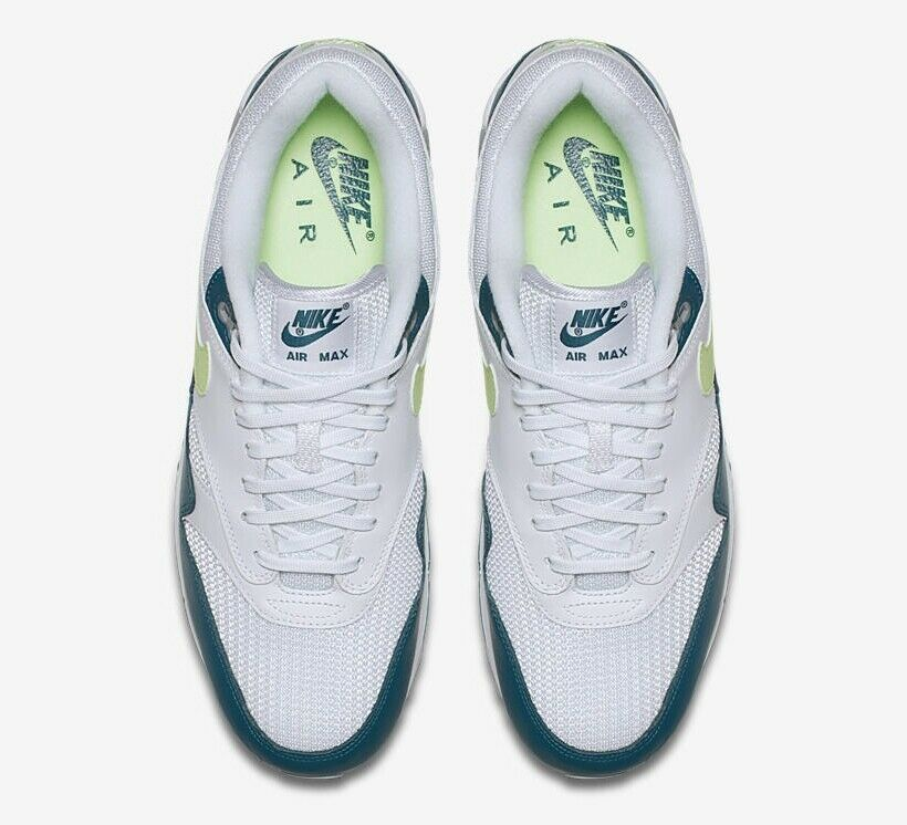 Brand New Men's Nike Air Max 90 1 White Lime Wolf Grey Size 9 Very Nice