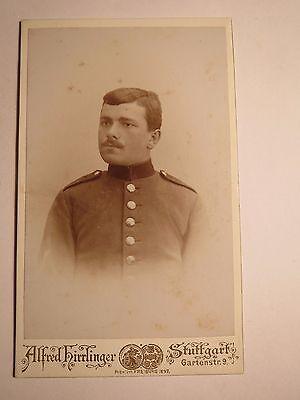 Stuttgart - Soldat In Uniform - Portrait / Cdv