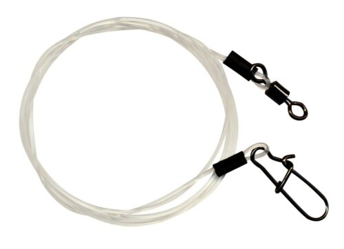 FTM Seika Fluorocarbon Vorfach mit Karabiner /& Knotenlosverbinder oder Wirbel Ra