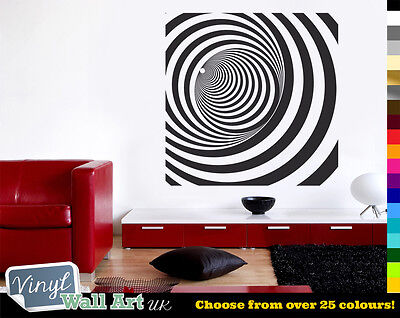 Optical Illusion Effect Magic Eye Vinyl Wall Art Sticker Many Colours + FREE P&P