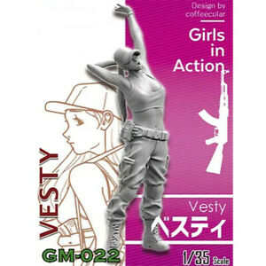 1-35-Vesty-girls-in-action-Resin-Model-Kits-non-peinte-GK-non-assemble