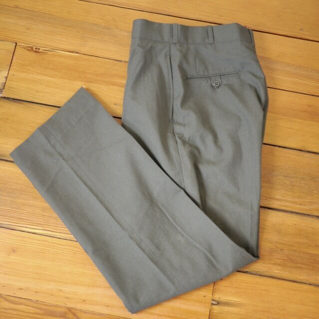 Vintage US Military OD Green Wool Serge Class 6 Dress Pants Trousers 31 x  31