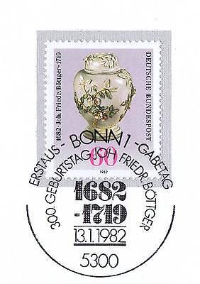 Angemessen Brd 1982: Johann Friedrich Böttger Nr 1118 Mit Dem Bonner Sonderstempel! 1a! 154 Um Der Bequemlichkeit Des Volkes Zu Entsprechen