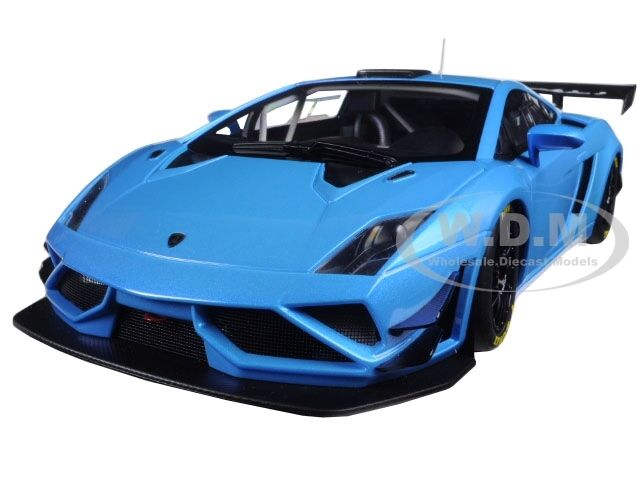 LAMBORGHINI GALLARDO GT3 FL2 2013 blueE 1 18 MODEL CAR AUTOART 81359