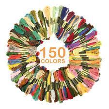 Trebla 72 x 8m Bright Colours Embroidery 100/% Cotton Thread Assortment Skeins