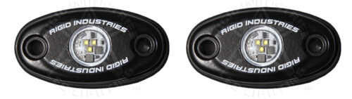 Rigid Industries A Series Black LED Cool White Low Strength Accessory Light Pair