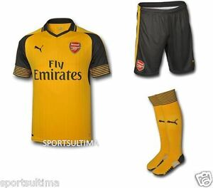 9e33951b2 Image is loading Puma-Arsenal-Away-Kit-Shirt-2016-17-Kids