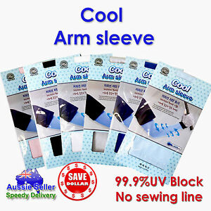 1Pair-Cooling-Sport-Arm-Stretch-Sleeves-Sun-UV-Protection-Covers-Golf-Korea-Made