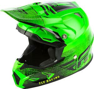 Fly Racing Toxin Mips Embargo Dirt Mx Atv Helmet Green Black Ebay