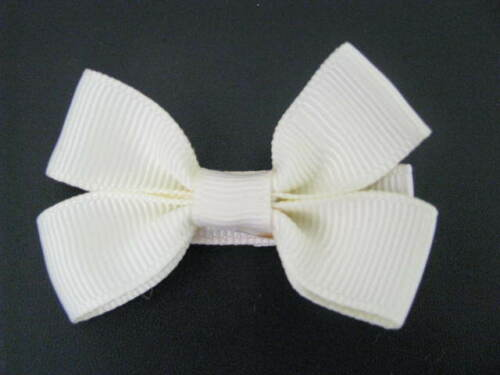 baby girl hair accessories cream bow clip