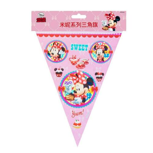Cartoon Minne Mouse Theme Tablecloth Kids Favor Pink Paper Cup Plate Party