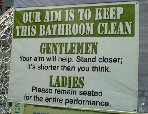 Clean Bathroom Old Photo Funny Sign