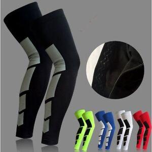 Sporting-Elastic-Knee-Pad-Leg-Support-Socks-Long-Sleeve-Guard-Protector-Gear