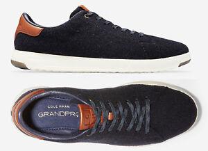 Mens Cole Haan Grandpro Tennis Shoes Navy Wool Sneakers New Ebay