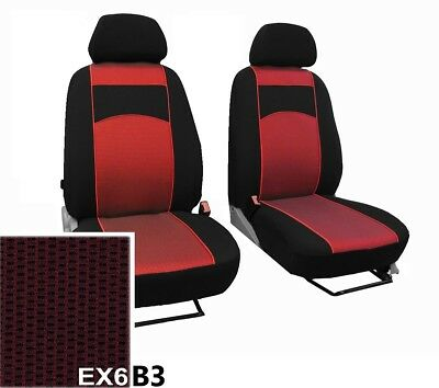 """FORD TRANSIT UP TO 2006 UPHOLSTERY FABRIC UNIVERSAL FRONT SEAT COVERS /""""TUNING/"""""""