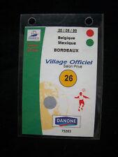 Orig.VIP Ticket   WM FRANKREICH 1998   BELGIEN - MEXICO  //  Spiel 26  !  SELTEN