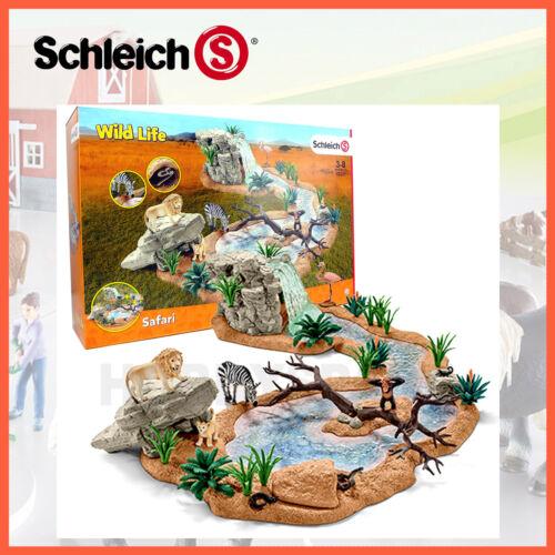 NEW SCHLEICH WILD LIFE BIG ADVENTURE AT WATER HOLE w EXCLUSIVE ZEBRA LION 42321