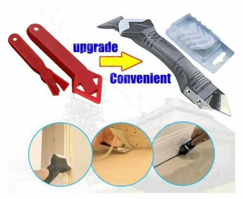 Domom 3 in 1 Upgraded Silicone Caulking Tools With 5 Interchangeable pads