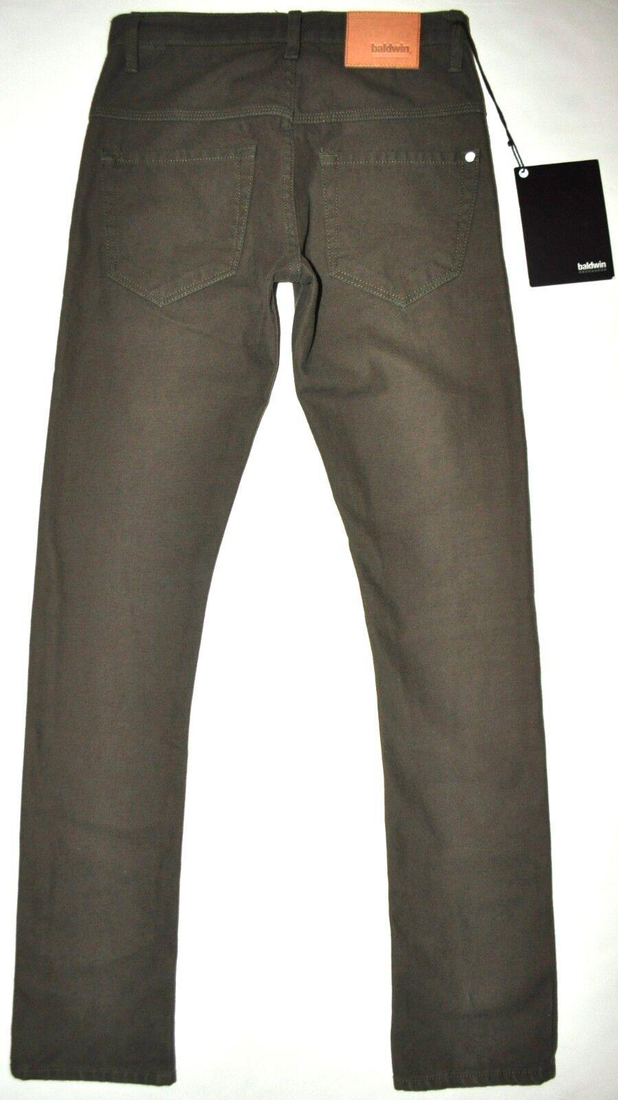 NEW Baldwin 77 Bull Olive Drop Yoke Straight Jeans Pants 29 X 33 3 4 Long RARE
