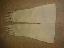 Pre-owned Crescendoe All Cotton Women's Off White Long Gloves sz 6 1/2