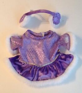 Build-A-Bear-Clothes-Purple-Skating-Dress-And-Ear-Warmers