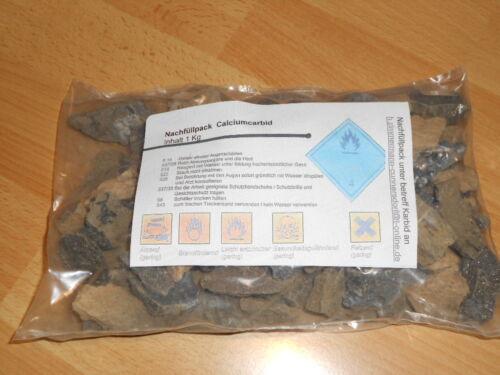 Karbid nachfüllpack Wühlmausgas 1kg Calciumcarbid grobkörnig