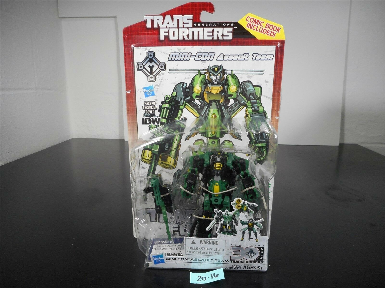 NEW SEALED  TRANSFORMERS GENERATIONS IDW MINI-CON ASSAULT TEAM DELUXE 30TH 20-16