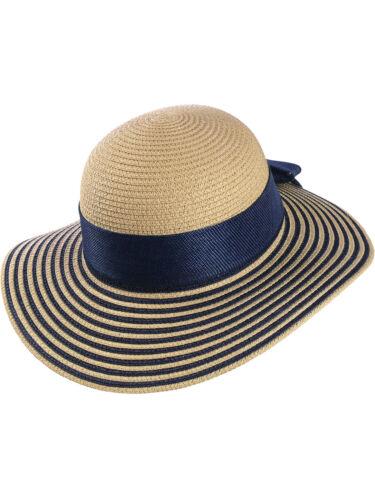Großer exclusiver Damenhut mit Stoffband Hut Hüte Strohhut Sommerhut Strandhut