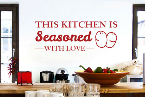 This Kitchen Is Seasoned With Love Wall Stickers Vinyl Art Decals